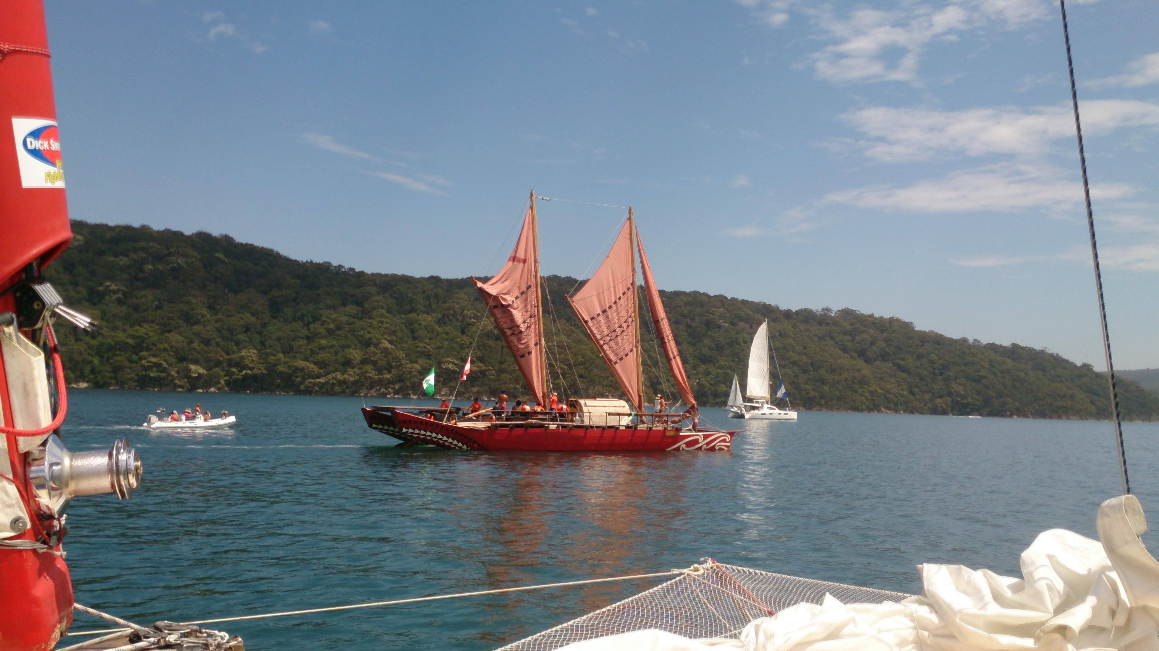 Hanui departing pitwater