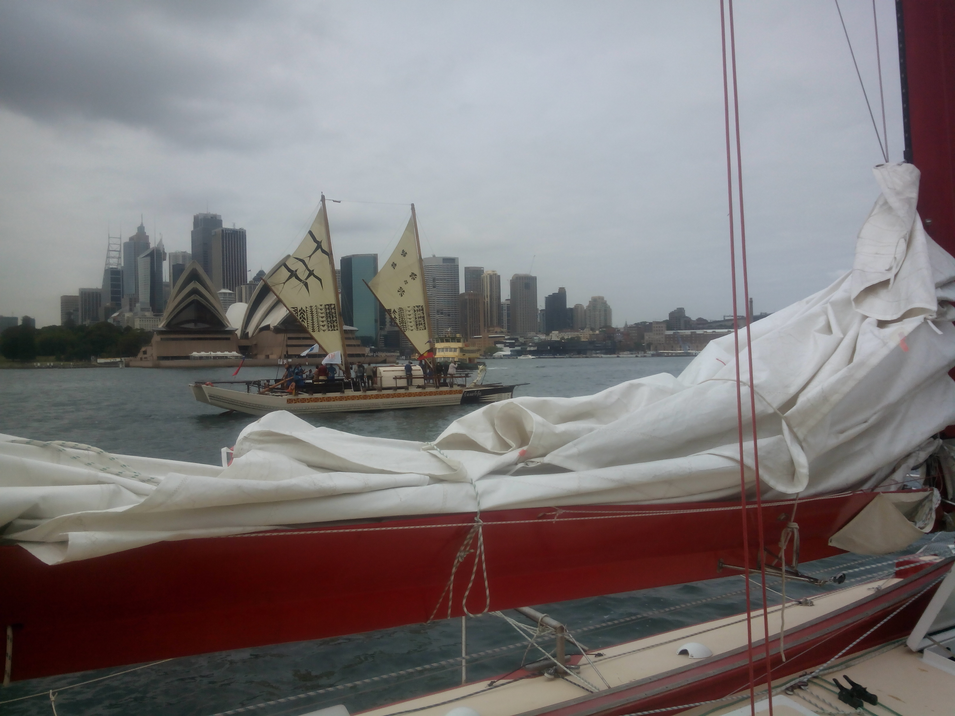 the arrival of the vaka's in sydney